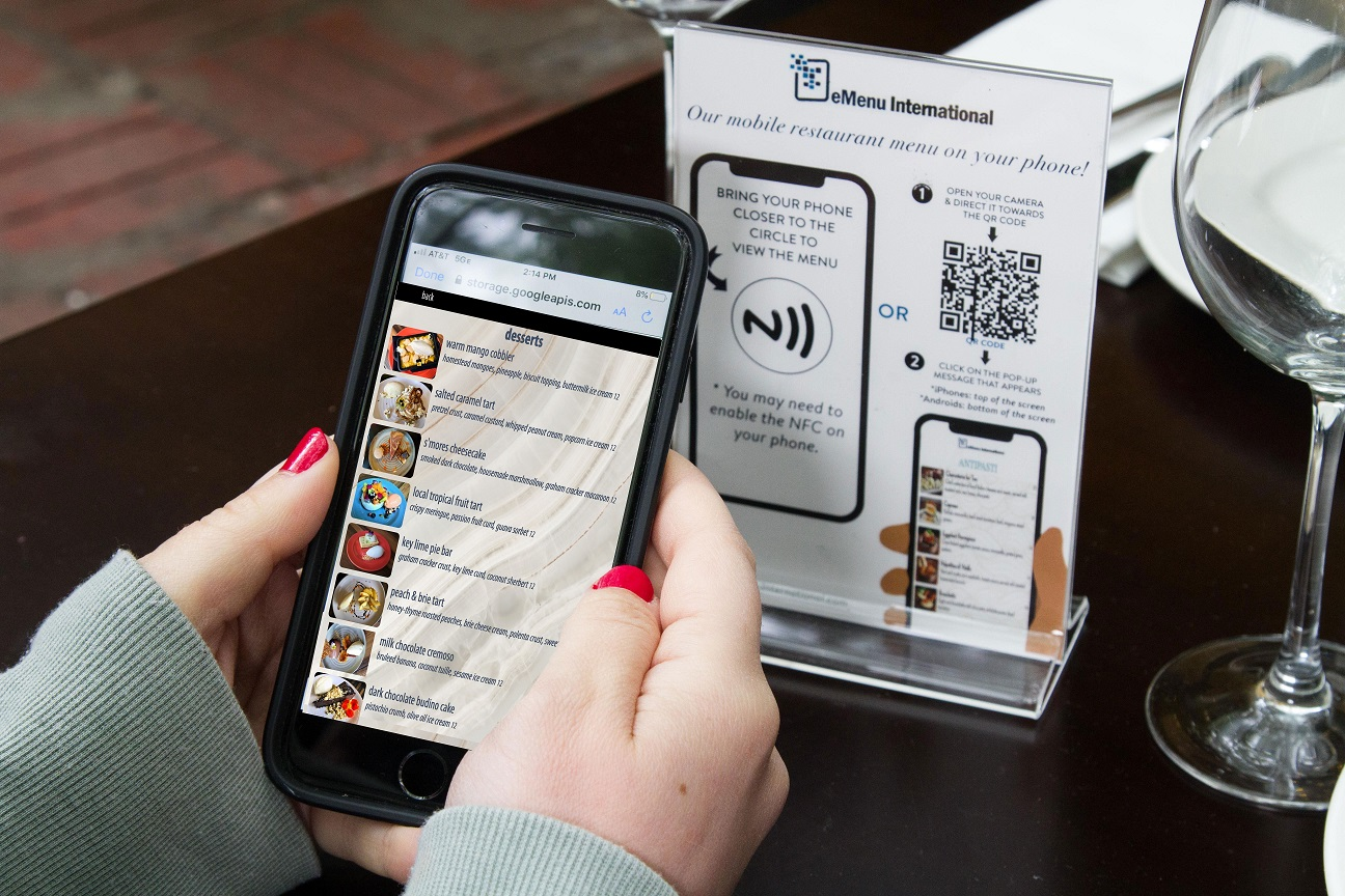Easy to Use Contactless Menu