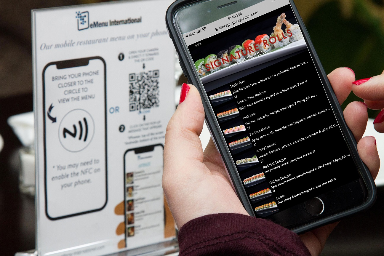 Contactless Menu for Restaurants